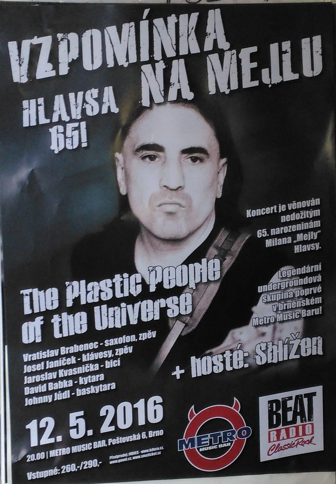 Vzpomínka na Mejlu - Hlavsa 65! (Metro Music Bar, Brno - 12.5.2016)