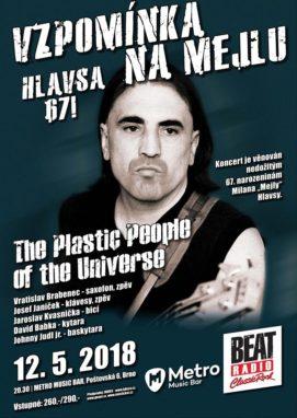 Vzpominka na Mejlu - Hlavsa 67! - Brno, Metro Music Bar - 12.05.2018