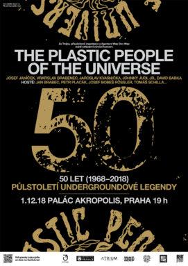 Exkluzivní výroční koncert: The Plastic People of The Universe - 50 let (1968-2018) - půlstoletí undergroundové legendy (1.12.2018 - Praha -Akropolis)