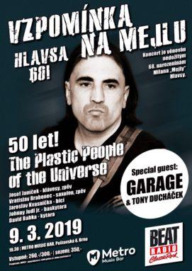 Vzpominka na Mejlu - Hlavsa 68! - Brno, Metro Music Bar - 09.03.2019