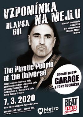 Vzpominka na Mejlu - Hlavsa 69! - Brno, Metro Music Bar - 07.03.2020